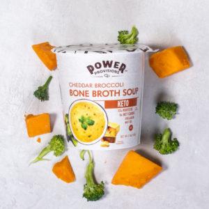Cheddar Broccoli Bone Broth Soup
